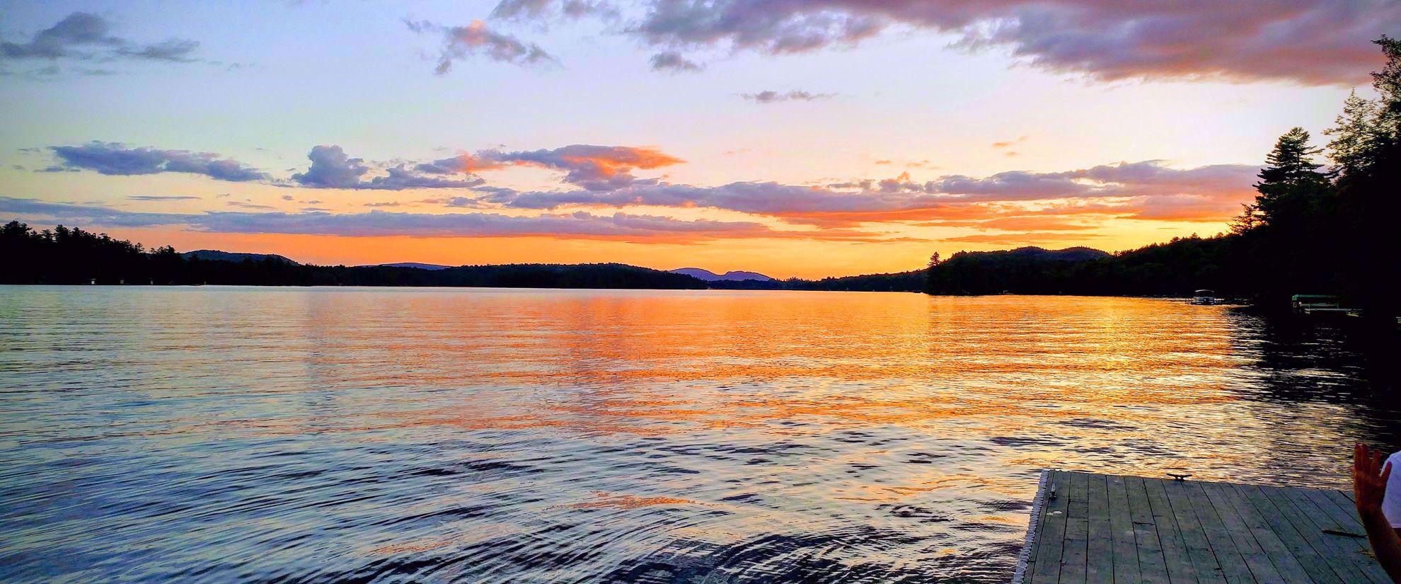Sunrise on Adirondack lake