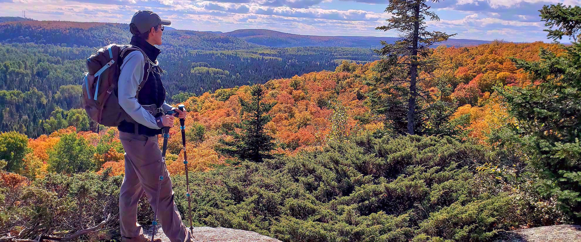 Hiking the superior hiking trail in fall