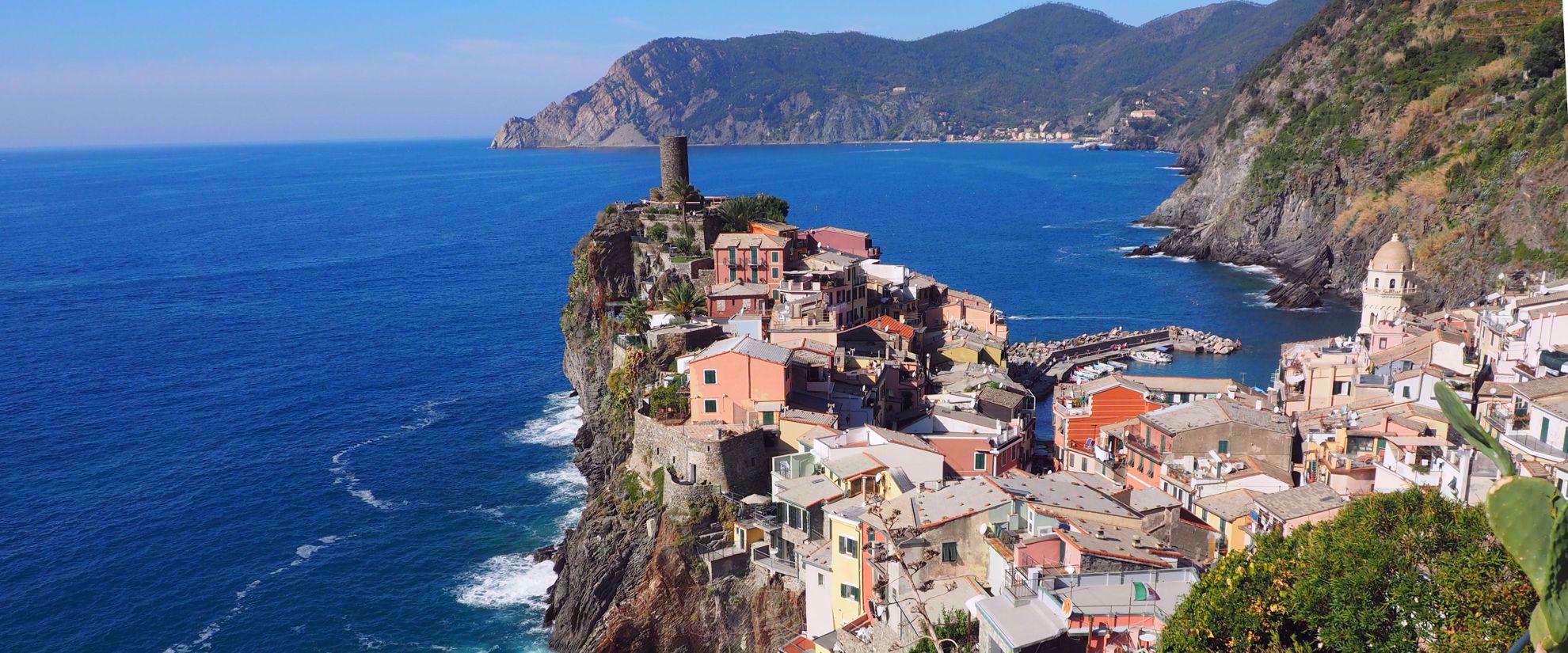 Beautiful landscape of italian riviera