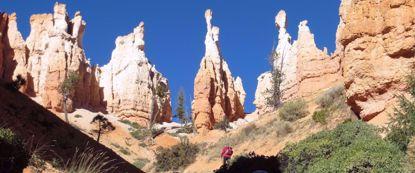 rock spires in sunshine at moab national park
