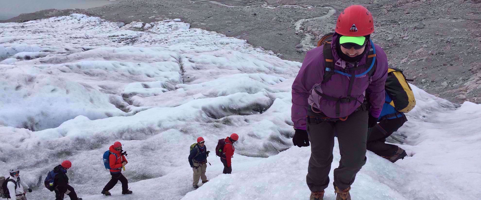 women's hiking group tours glaciers in greenland