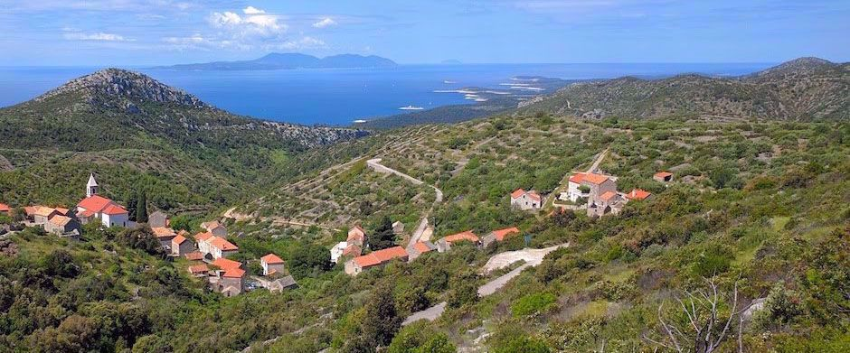 landscape of croatian coastline