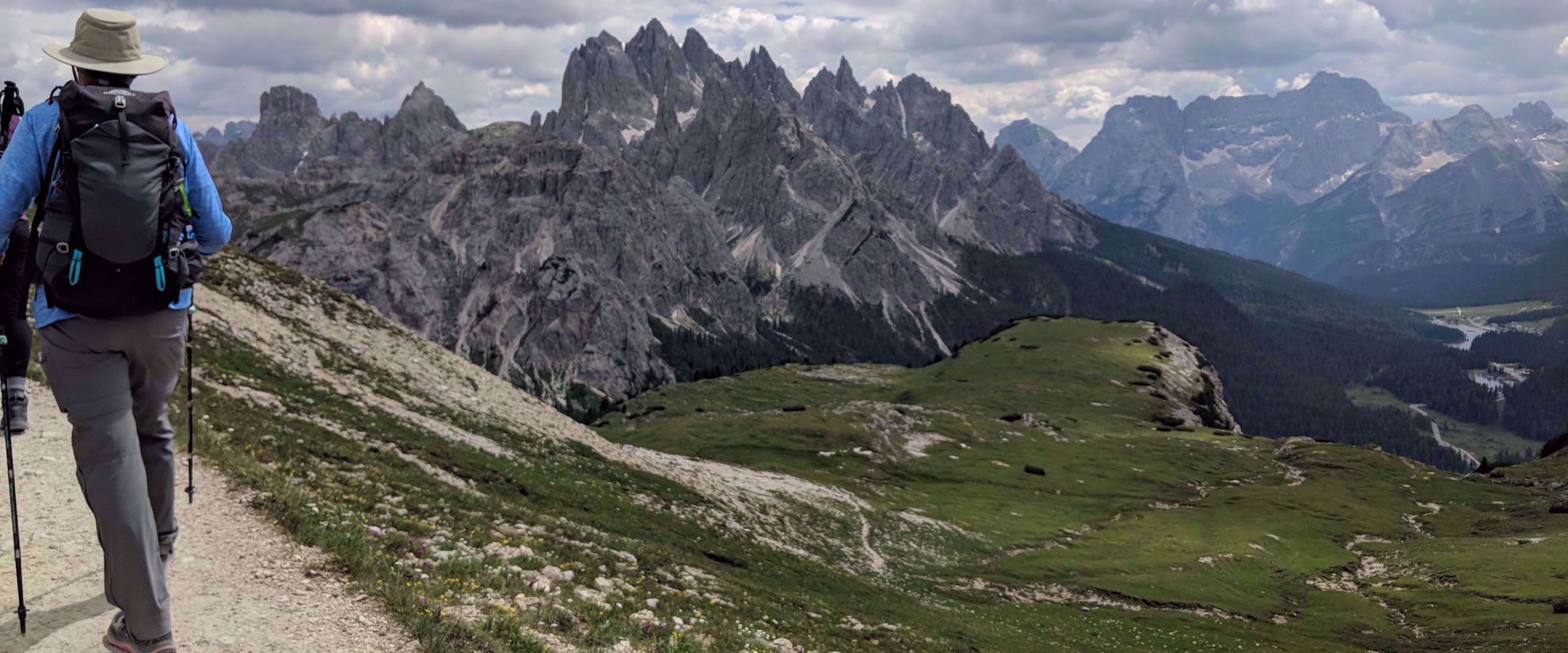 stunning views of italy's rocky alps