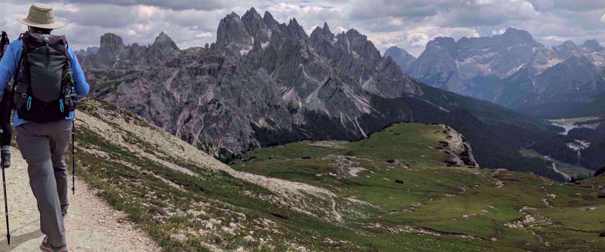 stunning views of italy's rocky alps