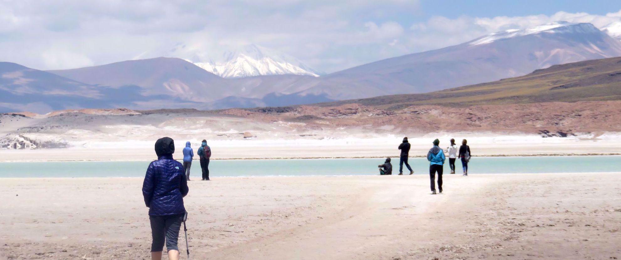 womens hiking tour through Atacama Desert
