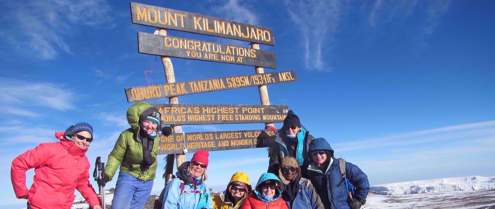 Women at the top of Kilimanjaro