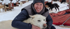 Smiling pax with a happy sled dog