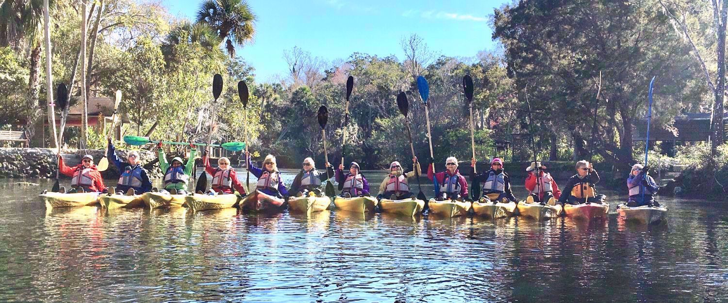 women kayaking in florida