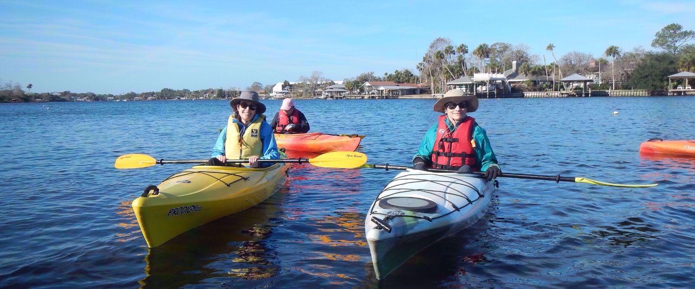 women kayaking in florida