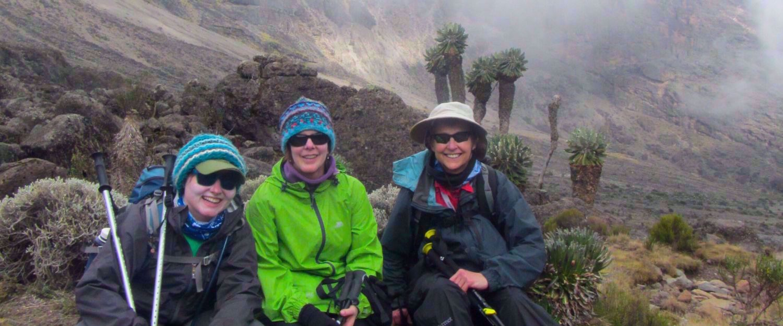 women on Kilimanjaro