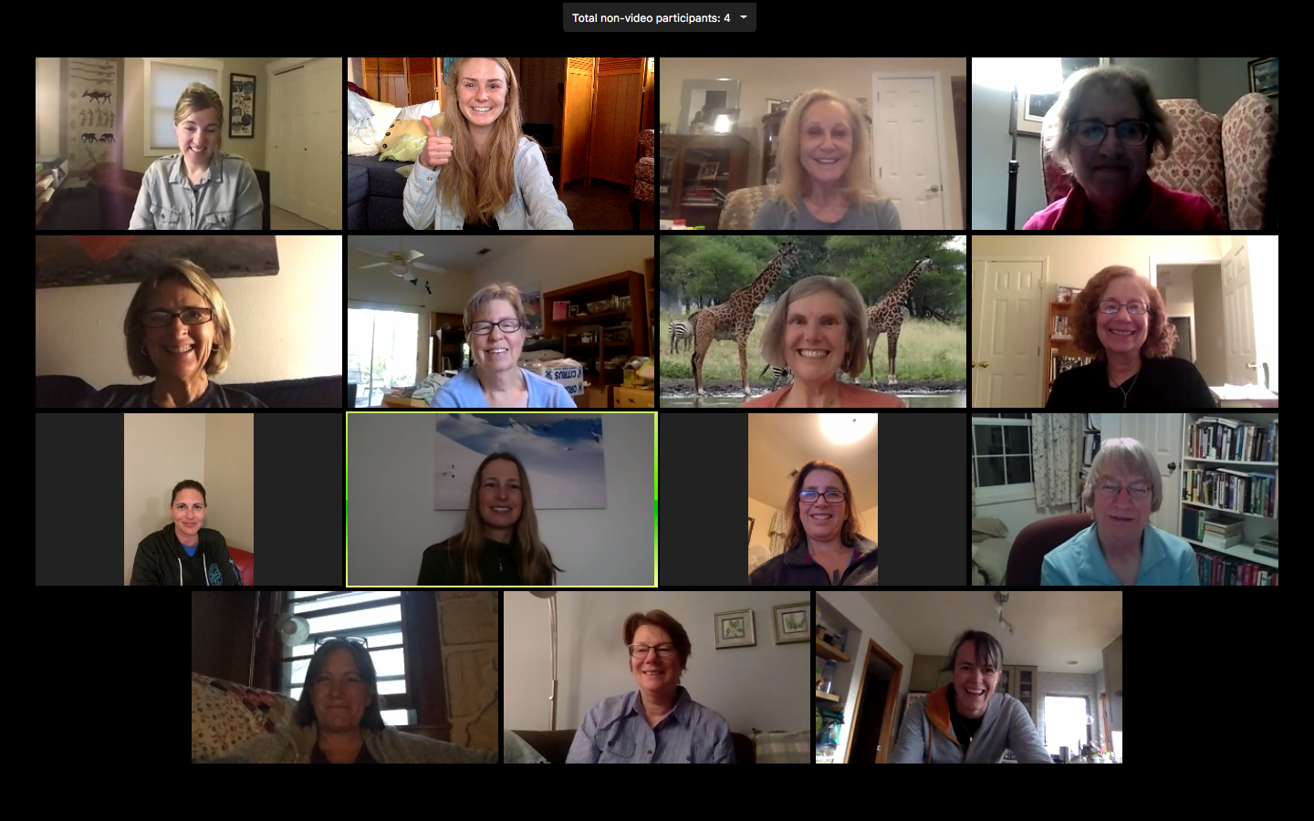 AGC's first-ever virtual book club event  - a group of wonderful women meeting on Zoom