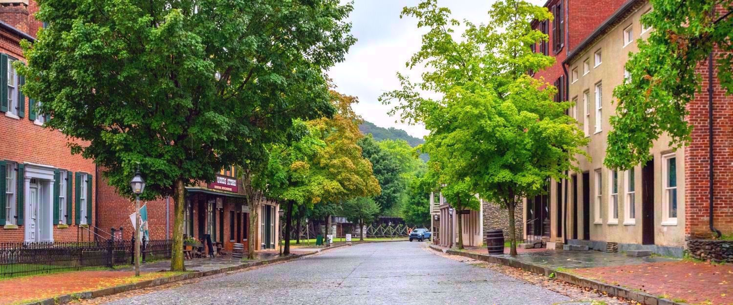 downtown view of harpers ferry